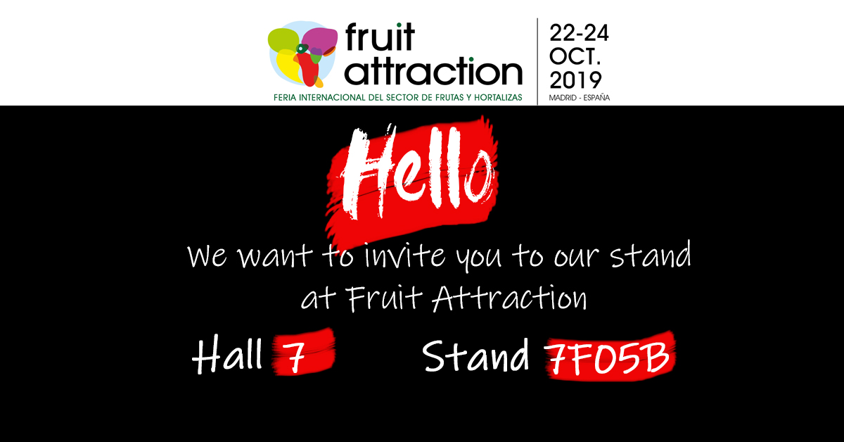 ZERYA will be present in Fruit Attraction 2019