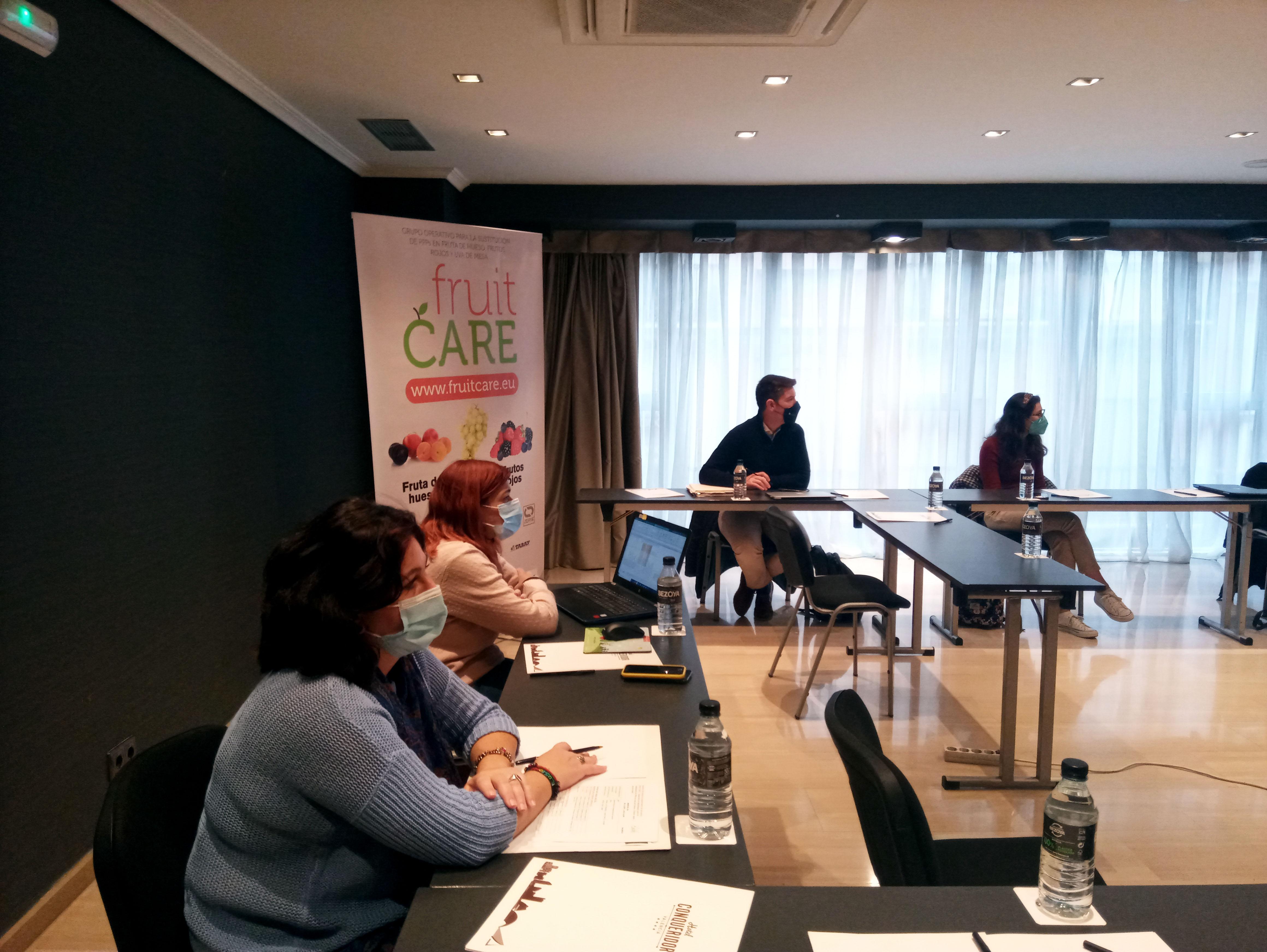 El Grupo Operativo FruitCare se reúne de forma semi presencial para hacer seguimiento del proyecto